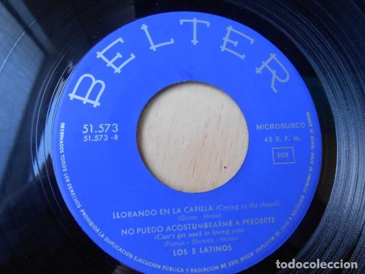 Discos de vinilo: 5 LATINOS. LOS, EP, SE DE UN LUGAR (I KNOW A PLACE) + 3, AÑO 1965 - Foto 4 - 221991903