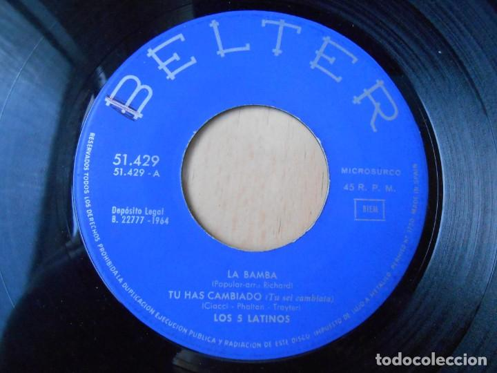 Discos de vinilo: CINCO LATINOS. LOS, EP, LA BAMBA + 3, AÑO 1964 - Foto 3 - 221992311