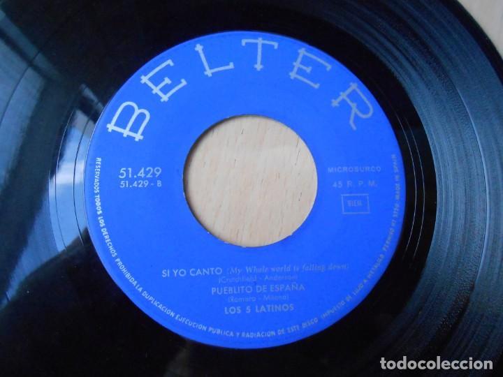 Discos de vinilo: CINCO LATINOS. LOS, EP, LA BAMBA + 3, AÑO 1964 - Foto 4 - 221992311