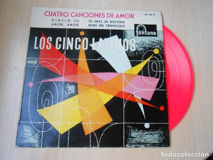 CINCO LATINOS. LOS - CUATRO CANCIONES DE AMOR -, EP, DIMELO TU + 3, AÑO 1959 (Música - Discos de Vinilo - EPs - Grupos y Solistas de latinoamérica)