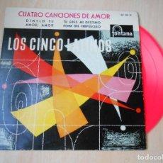 Discos de vinilo: CINCO LATINOS. LOS - CUATRO CANCIONES DE AMOR -, EP, DIMELO TU + 3, AÑO 1959. Lote 221992788