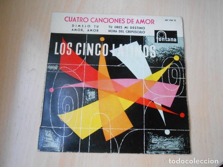 Discos de vinilo: CINCO LATINOS. LOS - CUATRO CANCIONES DE AMOR -, EP, DIMELO TU + 3, AÑO 1959 - Foto 2 - 221992788