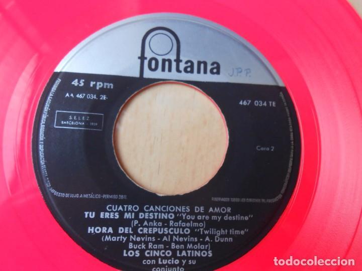 Discos de vinilo: CINCO LATINOS. LOS - CUATRO CANCIONES DE AMOR -, EP, DIMELO TU + 3, AÑO 1959 - Foto 5 - 221992788