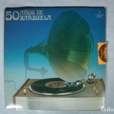 Discos de vinilo: 50 AÑOS DE ZARZUELA ( DOBLE LP) LP ESPAÑOL- 1977. Lote 221994310