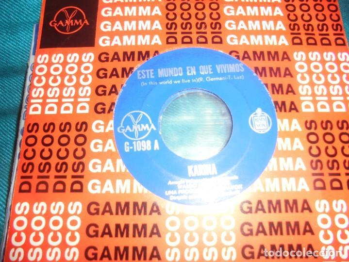 KARINA. ESTE MUNDO EN QUE VIVIMOS / AL PASAR LOS AÑOS. WALDO DE LOS RIOS. GAMMA, 1974. EDC. MEXICO (Música - Discos - Singles Vinilo - Solistas Españoles de los 50 y 60)