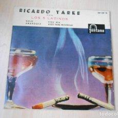 Discos de vinilo: RICARDO YARKE CON LOS 5 LATINOS, EP, SOLO + 3, AÑO 1960. Lote 222001658