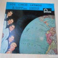 Discos de vinilo: CINCO LATINOS,LOS, EP, UN TELEGRAMA + 3, AÑO 1960. Lote 222002145