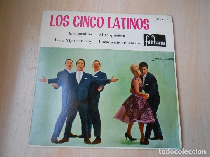 CINCO LATINOS,LOS, EP, INSEPARABLES + 3, AÑO 1962 (Música - Discos de Vinilo - EPs - Grupos y Solistas de latinoamérica)