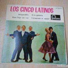 Discos de vinilo: CINCO LATINOS,LOS, EP, INSEPARABLES + 3, AÑO 1962. Lote 222002540