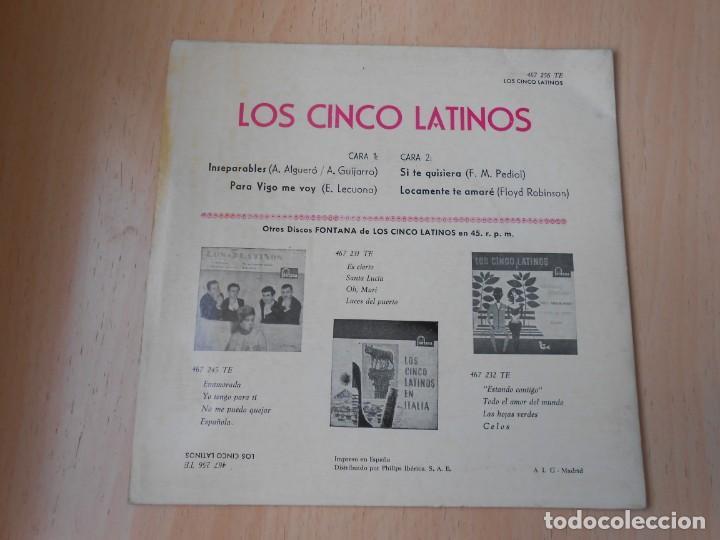Discos de vinilo: CINCO LATINOS,LOS, EP, INSEPARABLES + 3, AÑO 1962 - Foto 2 - 222002540