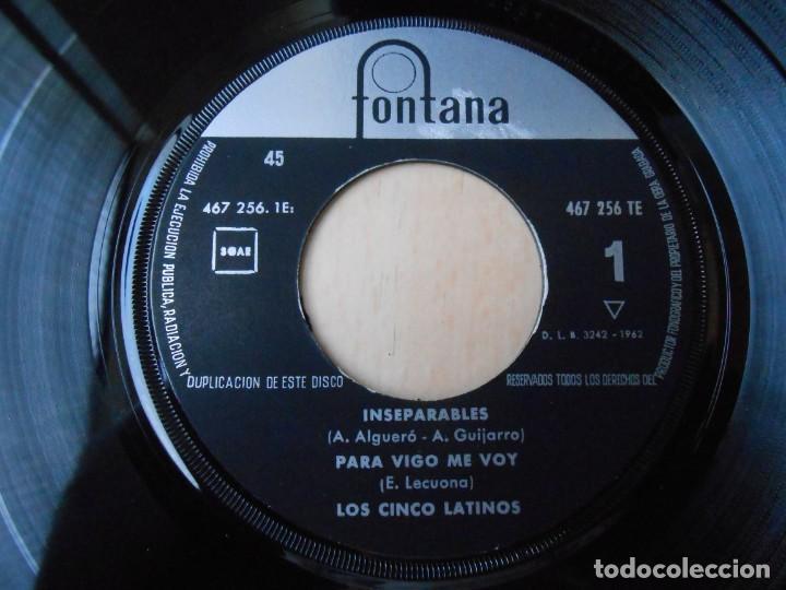 Discos de vinilo: CINCO LATINOS,LOS, EP, INSEPARABLES + 3, AÑO 1962 - Foto 3 - 222002540