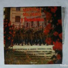 Discos de vinilo: LP MARCHAS MILITARES Y PASODOBLES - BANDA DE LA ACADEMIA GENERAL MILITAR - 1975 - OLYMPO L-285. Lote 222002821