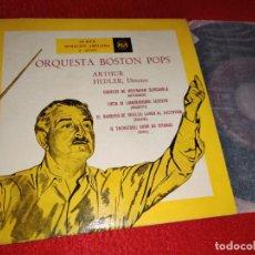Discos de vinilo: ORQ.BOSTON POPS FIEDLER OFFENBACH+DONIZETTI+ROSSINI+VERDI EP 195? RCA ESPAÑA SPAIN. Lote 222002850