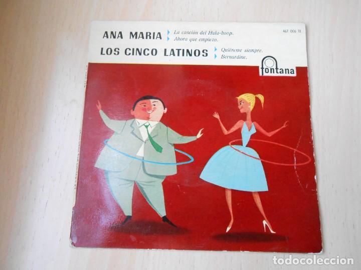 ANA MARIA - LOS CINCO LATINOS, EP, LA CANCIÓN DEL HULA-HOOP + 3, AÑO 1959 (Música - Discos de Vinilo - EPs - Grupos y Solistas de latinoamérica)