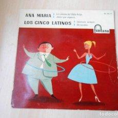 Discos de vinilo: ANA MARIA - LOS CINCO LATINOS, EP, LA CANCIÓN DEL HULA-HOOP + 3, AÑO 1959. Lote 222003237