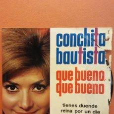 Discos de vinilo: CONCHITA BAUTISTA. QUE BUENO QUE BUENO. BELTER. Lote 222013860
