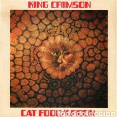 Discos de vinilo: KING CRIMSON–CAT FOOD / GROON . LP VINILO 10 PULGADAS. PRECINTADO.. Lote 222016042