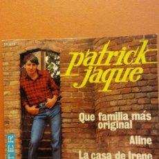 Disques de vinyle: PATRICK JAQUE. QUE FAMILIA MAS ORIGINAL. BELTER. Lote 222016373