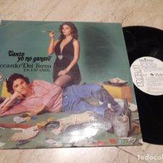 Discos de vinilo: RICCARDO DEL TURCO-TANTO YO NO GANARE (EN ESPAÑOL) LP EDITADO POR RCA EN 1974 PROMOCIONAL. Lote 222019106