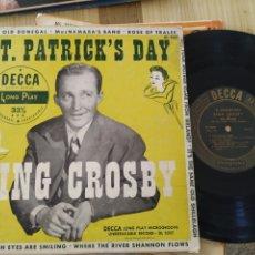 Discos de vinilo: BING CROSBY, 25 CTM, ST. PATRICK'S DAY. Lote 222020741