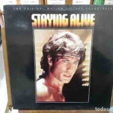 Discos de vinilo: STAYING ALIVE - THE ORIGINAL MOTION PICTRURE SOUNDRACK. Lote 222024871