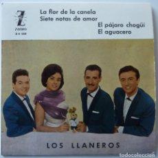 Discos de vinilo: LOS LLANEROS // LA FLOR DE LA CANELA+3 // 1961 // EP. Lote 222025621