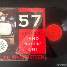 Discos de vinilo: BRUCE SPRINGSTEEN ?– 57 CHANNELS (AND NOTHIN' ON) (THE REMIXES). Lote 222038485
