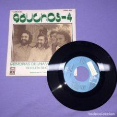 Discos de vinilo: SINGLE GAUCHOS -4 --VG++. Lote 222039191