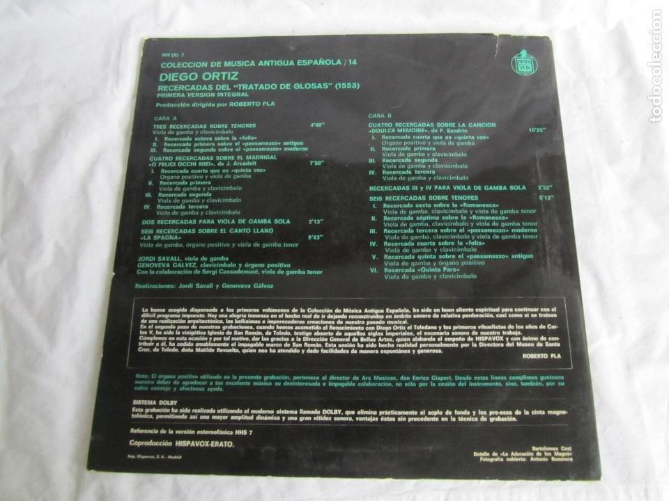 Discos de vinilo: 7 LPs vinilo de la colección Música Antigua Española - Foto 10 - 222040006