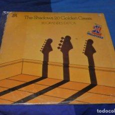 Discos de vinilo: EXPRO DOBLE LP REFLEJOS ESPAÑA 1977 THE SHADOWS 20 GRANDES EXITOS MUY CORRECTO ALGUNA SEÑAL MENOR. Lote 222042813