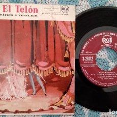 Discos de vinilo: SINGLE ARRIBA EL TELON - ORQUESTA BOSTON POPS - ¡ÚNICO ENVIO A FINAL DE MES!. Lote 222049353