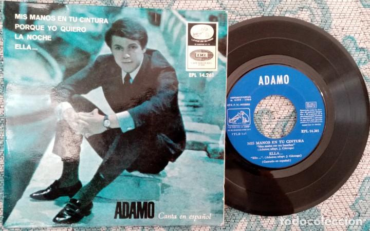 SINGLE ADAMO - MIS MANOS EN TU CINTURA - ¡ÚNICO ENVIO A FINAL DE MES! (Música - Discos - Singles Vinilo - Solistas Españoles de los 50 y 60)