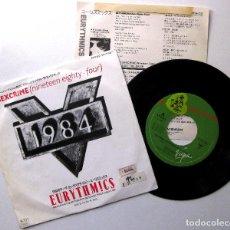 Discos de vinilo: EURYTHMICS - SEXCRIME (NINETEEN EIGHTY FOUR) - SINGLE VIRGIN 1985 JAPAN (EDICIÓN JAPONESA) BPY. Lote 222057737