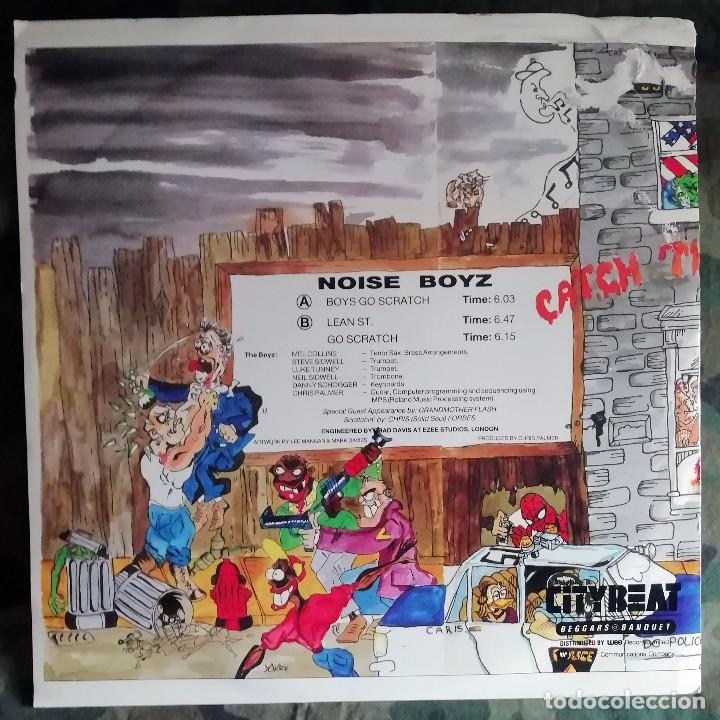 Discos de vinilo: The Noise Boyz - Boys Go Scratch Maxi Single UK 1986 - Foto 2 - 222061747