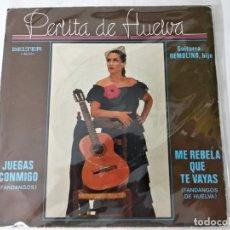 Discos de vinilo: PERLITA DE HUELVA - JUEGAS CONMIGO. Lote 222078406