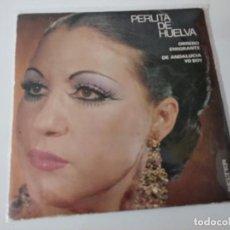 Discos de vinilo: PERLITA DE HUELVA - OBRERO EMIGRANTE. Lote 222079416