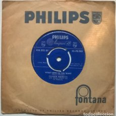 Discos de vinilo: FRANKIE VAUGHAN. THE VERY VERY YOUNG/WHAT MORE DO YOU WANT. PHILIPS, UK 1960 SINGLE. Lote 222083303
