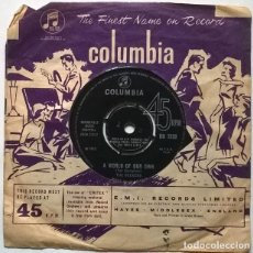 Discos de vinilo: THE SEEKERS. SINNER MAN/ A WORLD OF OUR OWN. COLUMBIA, UK 1965 SINGLE. Lote 222084045