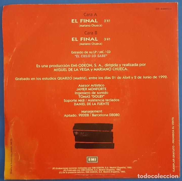 Discos de vinilo: SINGLE / DISTRITO 14 / EL FINAL (VOZ, BUNBURY, HEROES DEL SILENCIO) EMI?– 006 8 60072 7 / 1993 - Foto 2 - 222084747