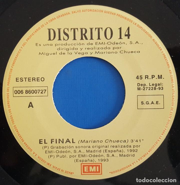 Discos de vinilo: SINGLE / DISTRITO 14 / EL FINAL (VOZ, BUNBURY, HEROES DEL SILENCIO) EMI?– 006 8 60072 7 / 1993 - Foto 3 - 222084747