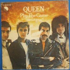 Discos de vinilo: SINGLE / QUEEN / PLAY THE GAME / EMI?– 10C 006-063.890 / 1980. Lote 222085227