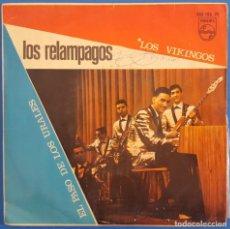 Discos de vinilo: SINGLE / LOS RELÁMPAGOS / LOS VIKINGOS / PHILIPS 360 106 PF / 1967. Lote 222085853