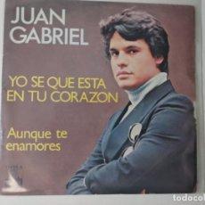 Discos de vinilo: JUAN GABRIEL YO SE QUE ESTA EN TU CORAZON/AUNQUE TE ENAMORES 7'' SINGLE 1978 ARIOLA ESPAÑA SPAIN. Lote 222085856