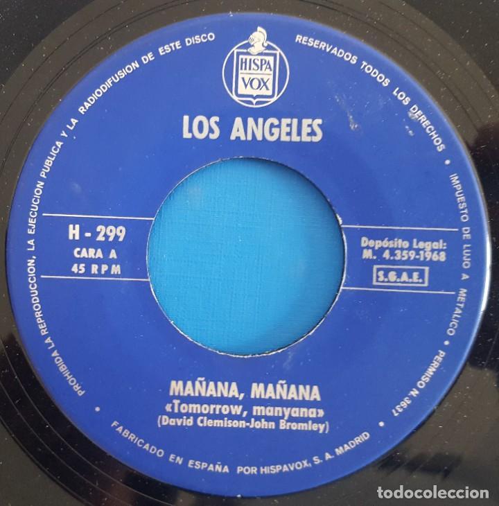 Discos de vinilo: SINGLE / LOS ÁNGELES / MAÑANA, MAÑANA / HISPAVOX H-299 / 1968 - Foto 3 - 222087133