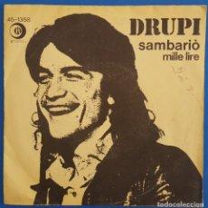 Discos de vinilo: SINGLE / DRUPI / SAMBARIÓ / RICORDI 45-1358 / 1976. Lote 222087253