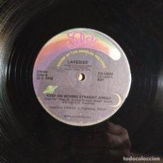 "Discos de vinilo: LAKESIDE - KEEP ON MOVING STRAIGHT AHEAD (12"", 33 RPM) (1981/US). Lote 222088097"