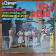 Discos de vinilo: 42978 - FALCO Y JOSEFINA - 6 SINGLES - DISCOS BELTER - AÑO 1966. Lote 222095197