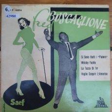 Discos de vinilo: 42980 - FRED BUSCAGLIONE Y SUS ASTERNOVAS - 4 SINGLES - AÑO 1961. Lote 222095416