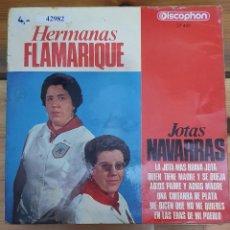 Discos de vinilo: 42982 - HERMANAS FLAMARIQUE - JOTAS NAVARRAS - AÑO 1966. Lote 222095566