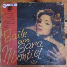 Discos de vinilo: 42983 - BAILE CON SARA MONTIEL - 4 SINGLES - HISPAVOX. Lote 222095638